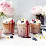 Fresh Blueberry Cold Brew Lattes
