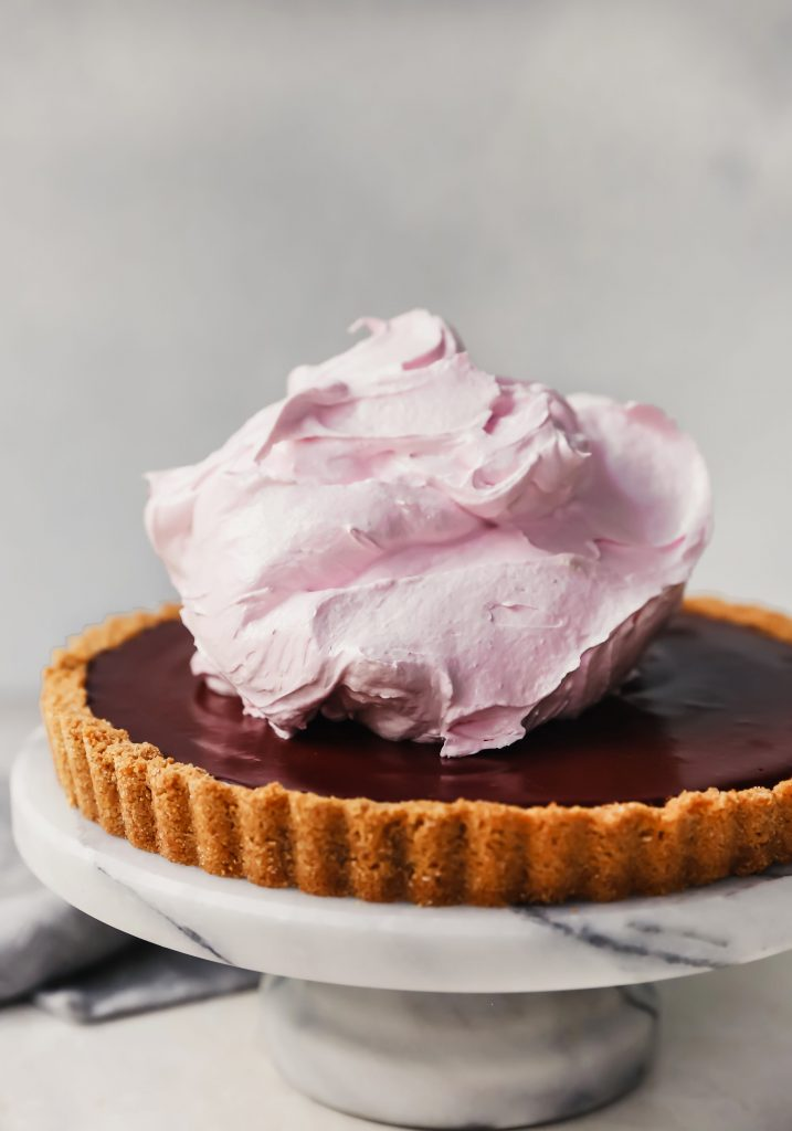 Raspberry Truffle S'mores Tart