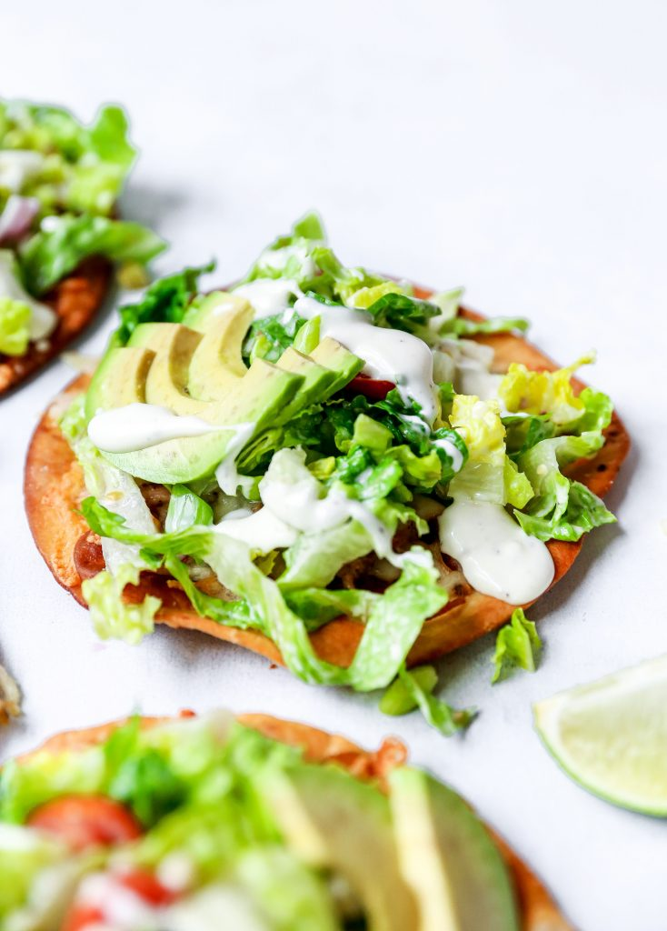 Pulled Pork Chile Verde Tostadas