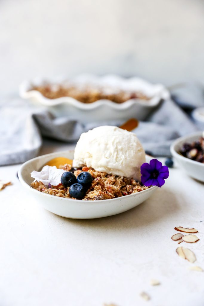 Blueberry Almond Crisp