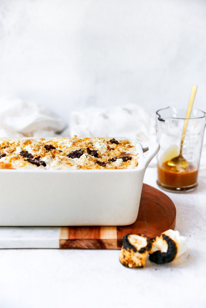 No-Churn Salted Caramel S'mores Ice Cream