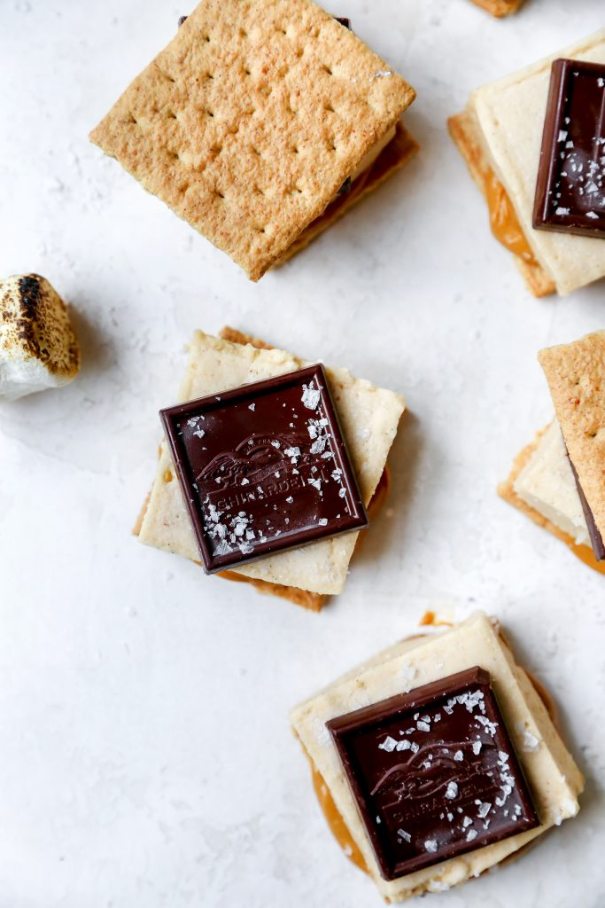 Caramel S'mores with Peanut Butter Marshmallows