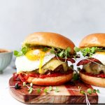 Breakfast Cheeseburgers with Smoky Tomato Jam
