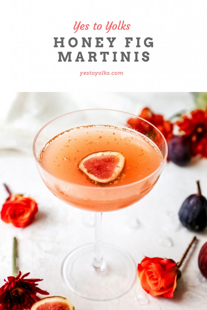 Honey Fig Martinis