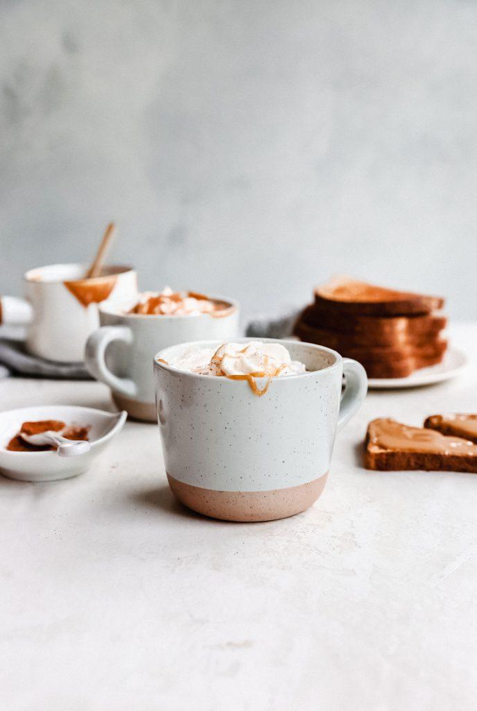 Peanut Butter Caramel Lattes