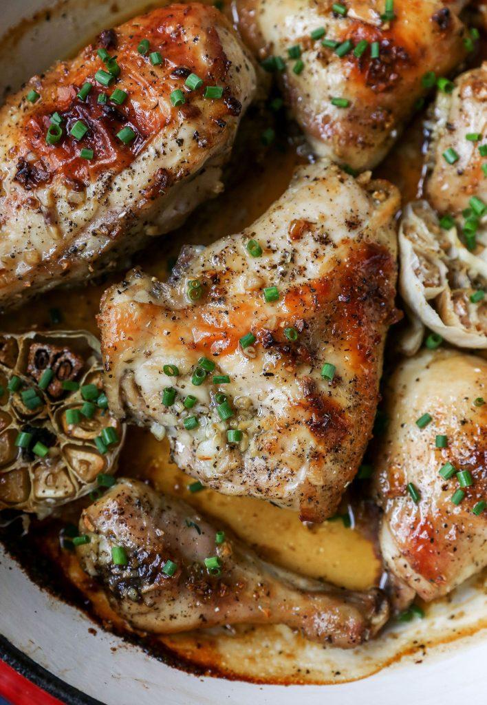 Garlic Brown Sugar Roast Chicken