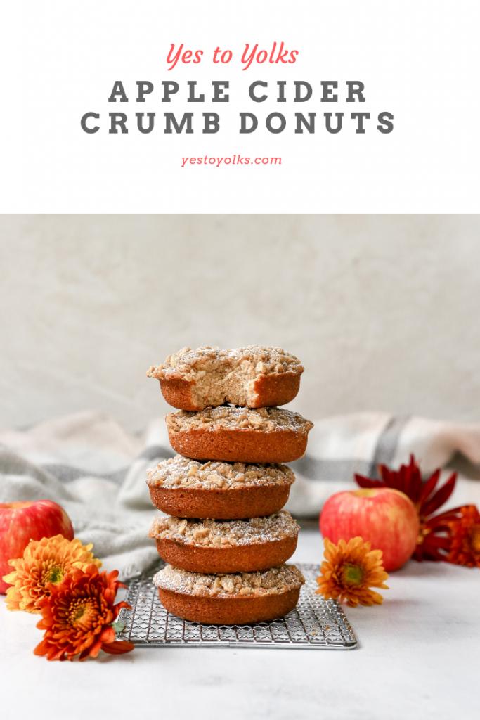 Apple Cider Crumb Donuts