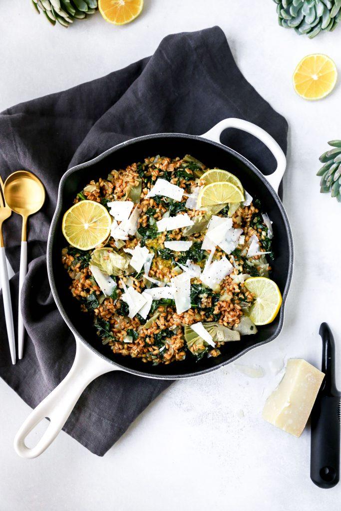 Lemony Kale & Artichoke Farro