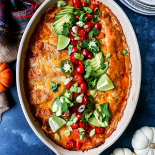 Beer Cheese Chicken Enchiladas