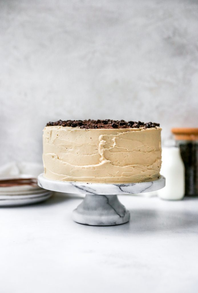Mocha Cake with Fudge Filling & Espresso Frosting