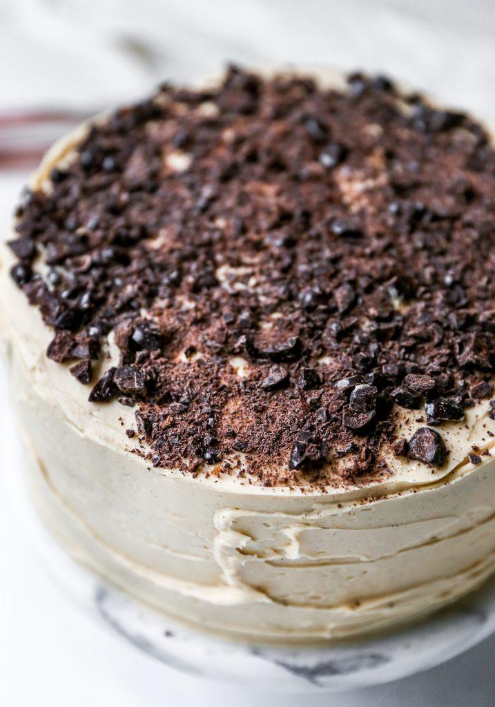Mocha Cake with Fudge Filling & Espresso Frosting