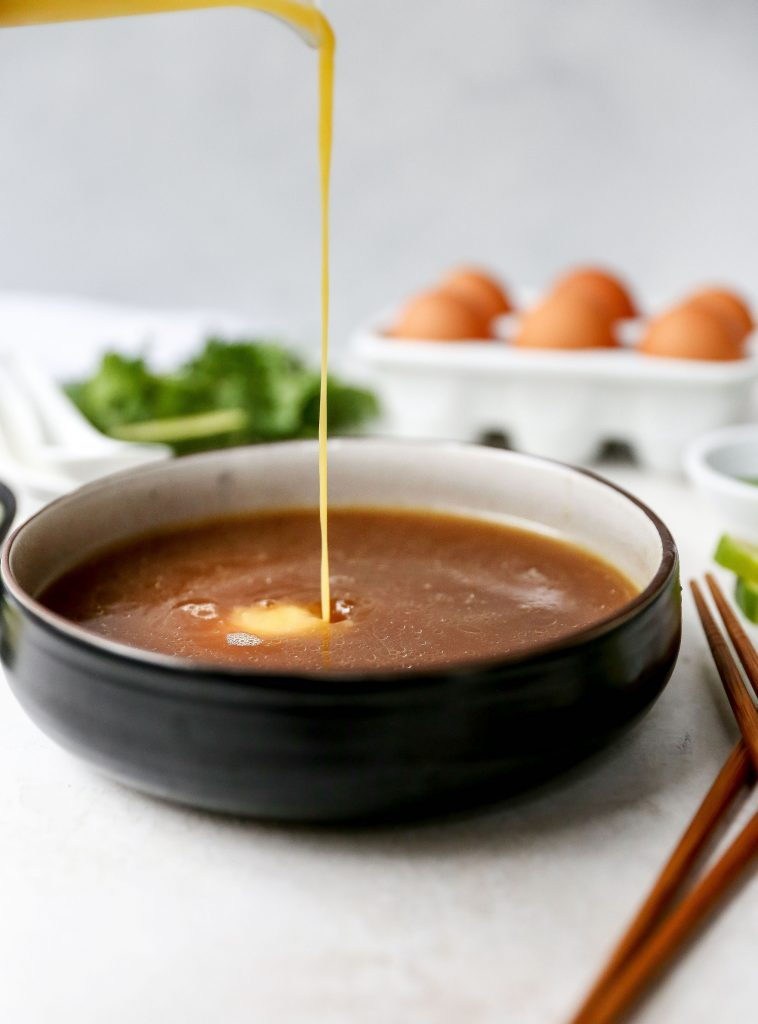 Pho-Spiced Egg Drop Udon Soup