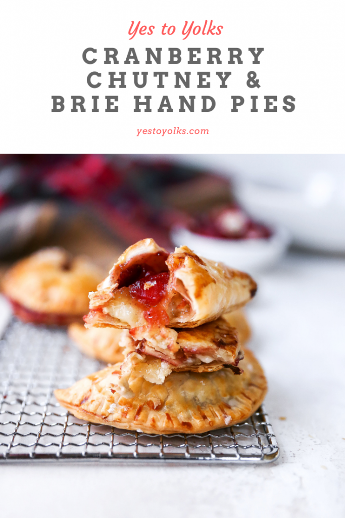 Savory Brie & Cranberry Chutney Hand Pies