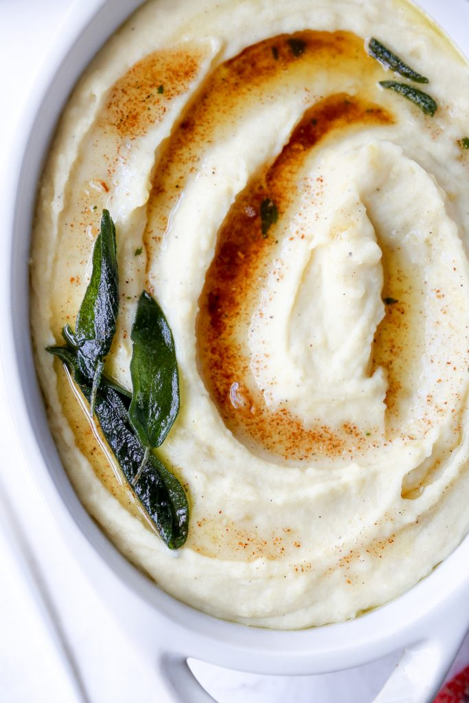 Crock Pot Garlic-Sage Brown Butter Mashed Potatoes