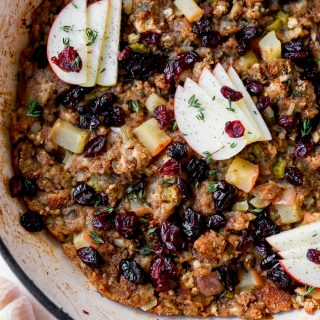 Apple Cider & Cranberry Stuffing