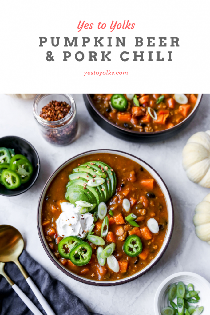 Pumpkin Beer & Pork Chili