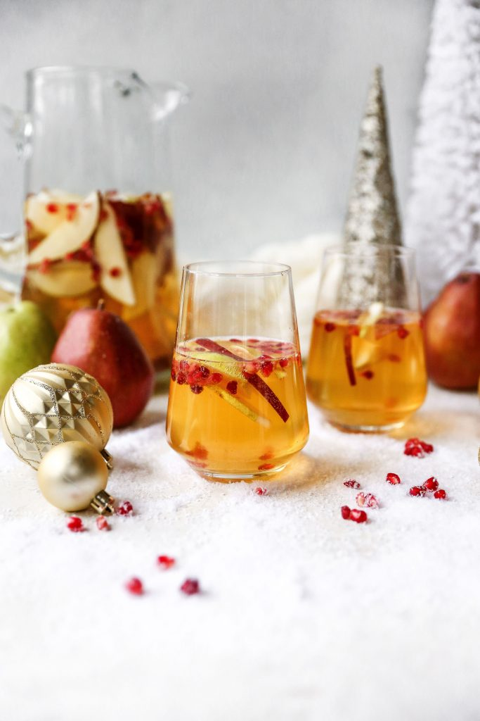 Ginger Bourbon Pear Sangria