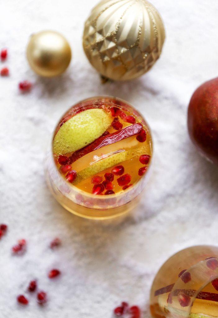 Ginger Bourbon Pear Sangria