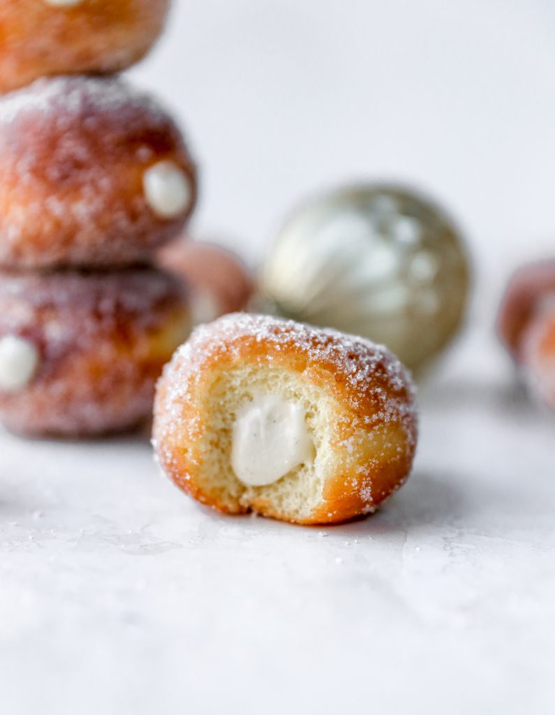 Mini Eggnog Donuts