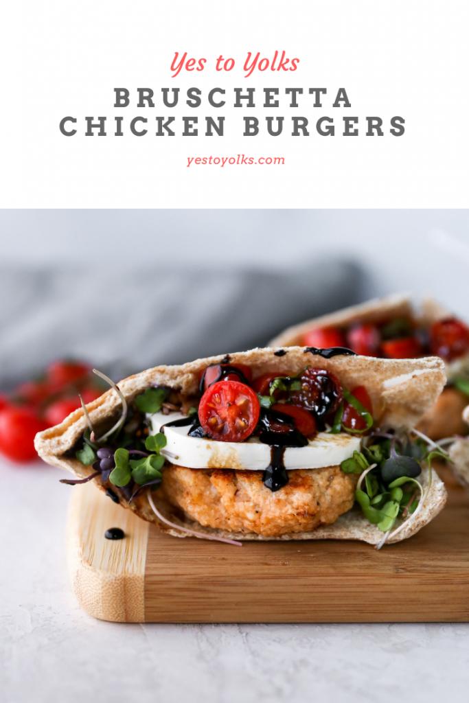 Bruschetta Chicken Burgers