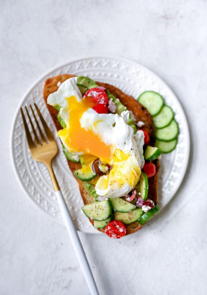 Greek Avocado & Egg Toasts