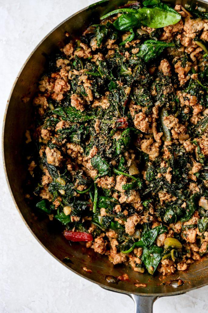 Turkey & Greens Lasagna Rolls