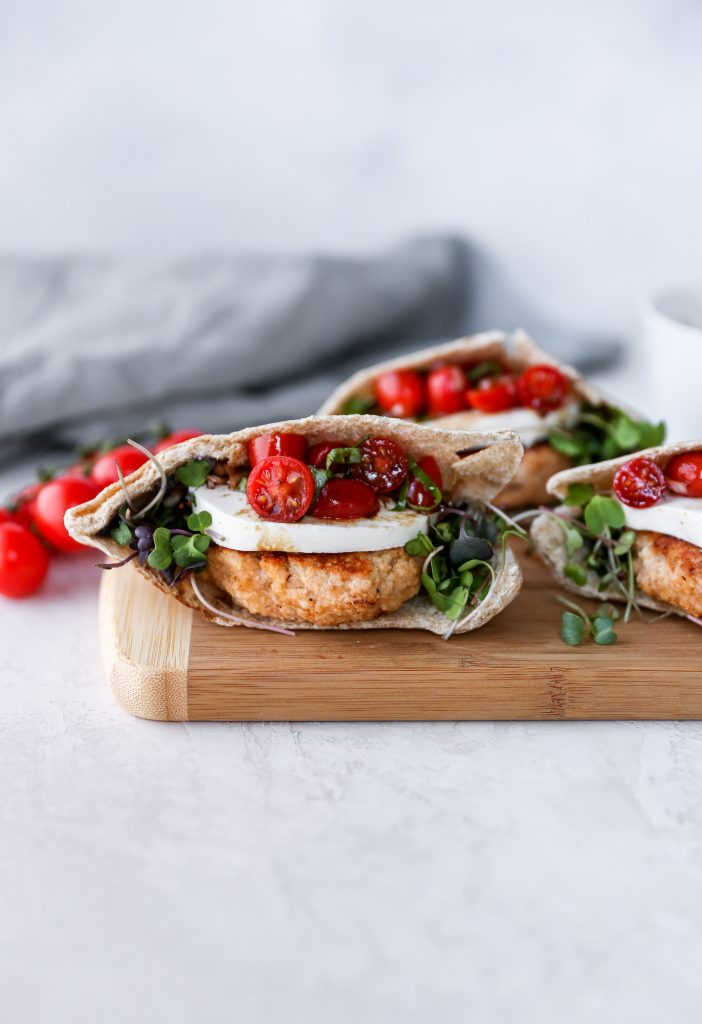 Bruschetta Chicken Burgers