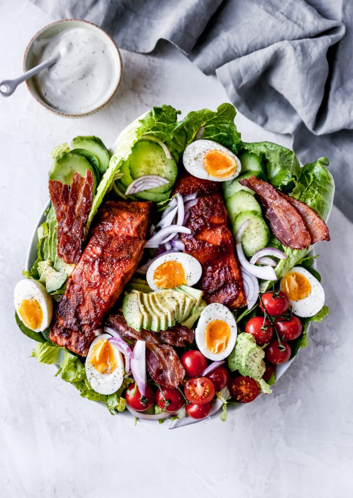 BBQ Salmon Cobb Salad
