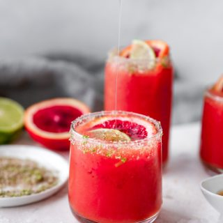Honey Blood Orange Margaritas with Smoky Lime Salt