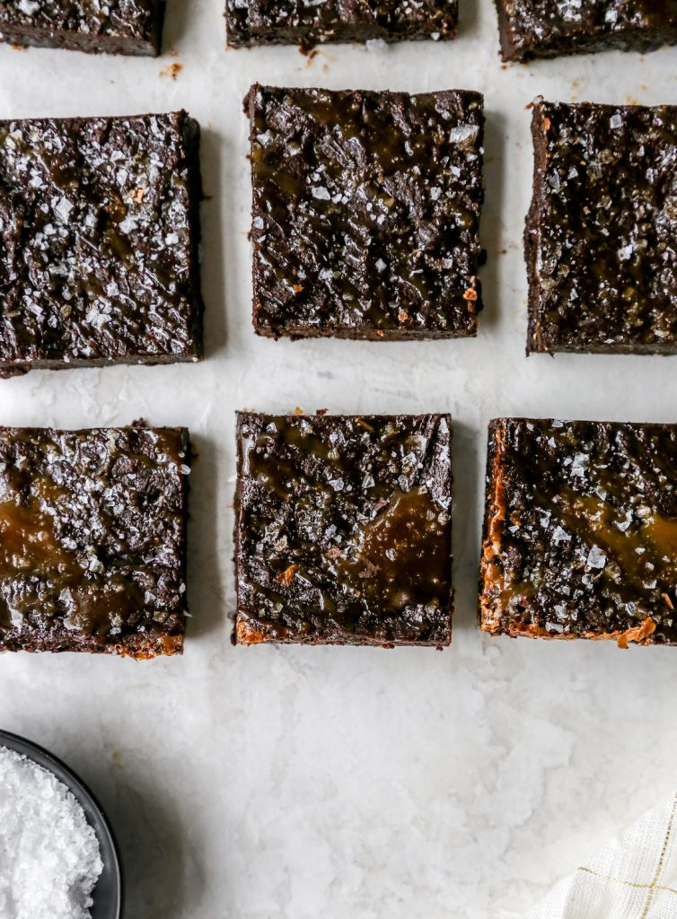 Salted Caramel Truffle Olive Oil Brownies