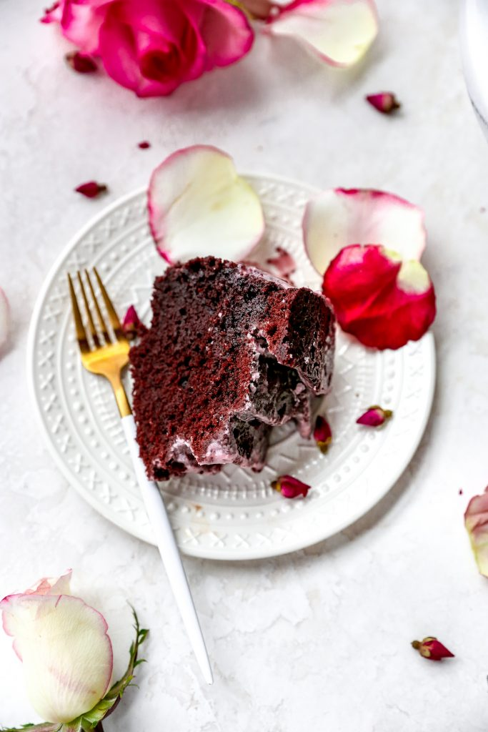 Chocolate Cabernet Cake with Red Wine Glaze