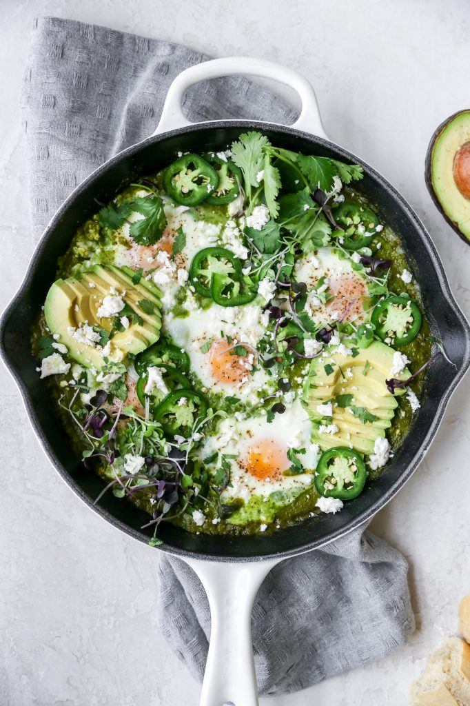Spicy Green Shakshuka with Feta