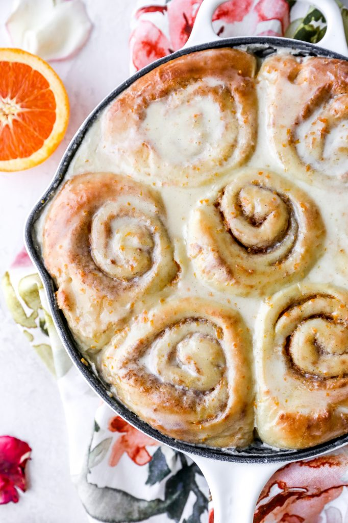 Vanilla Bean Orange Cardamom Rolls