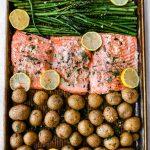 Sheet Pan Garlic Butter Salmon and Veggies