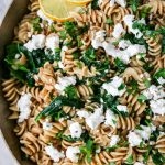 Lemony Pasta with Spinach & Goat Cheese