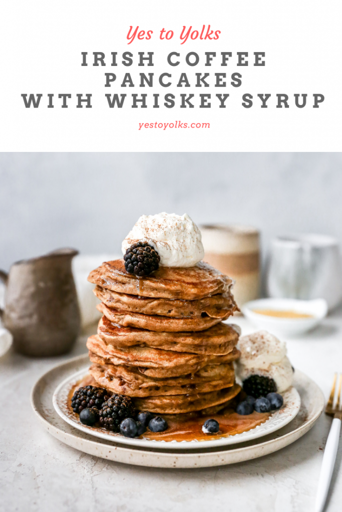 Irish Coffee Pancakes with Whiskey Syrup