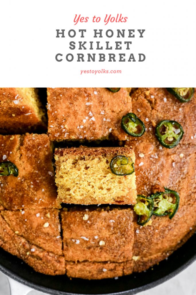 Hot Honey Skillet Cornbread
