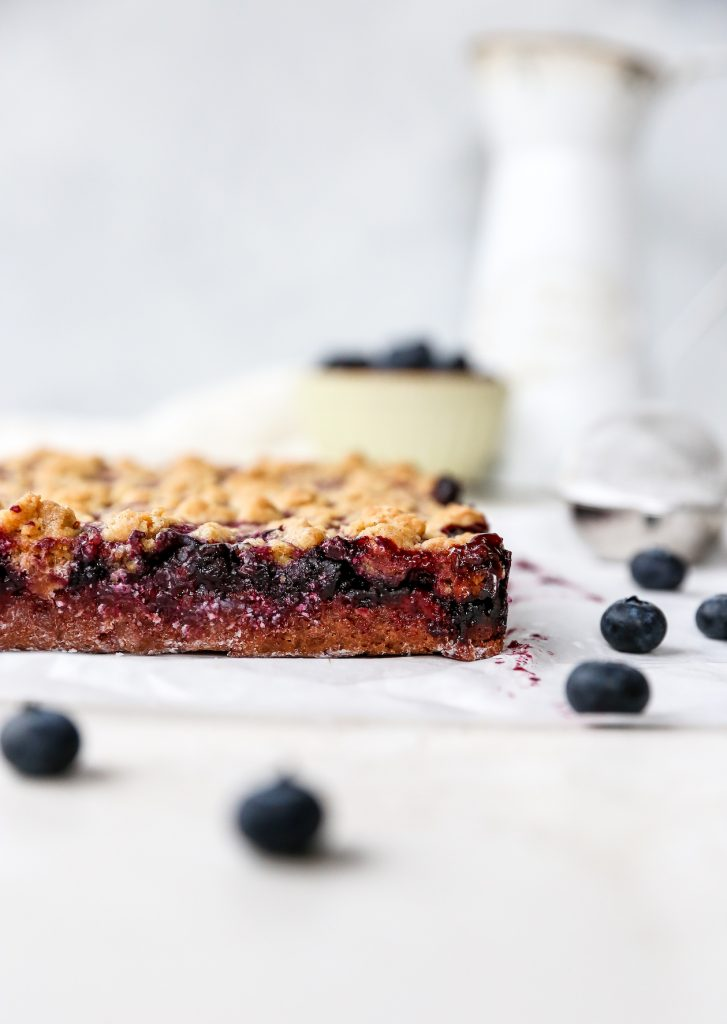 Lemon Blueberry Crumble Bars