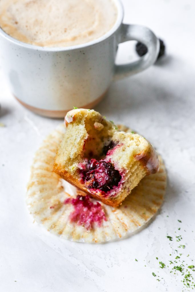 Blackberry Lime Muffins