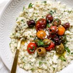 Greek Risotto with Roasted Tomatoes & Olives