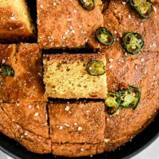 Hot Honey Skillet Cornbread