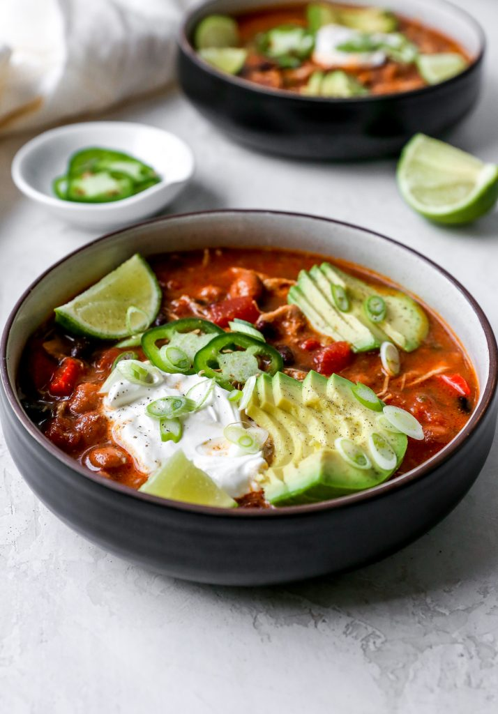 Smoky Beer Pulled Chicken Chili