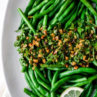 Buttery Green Beans with Pistachio-Lemon Gremolata