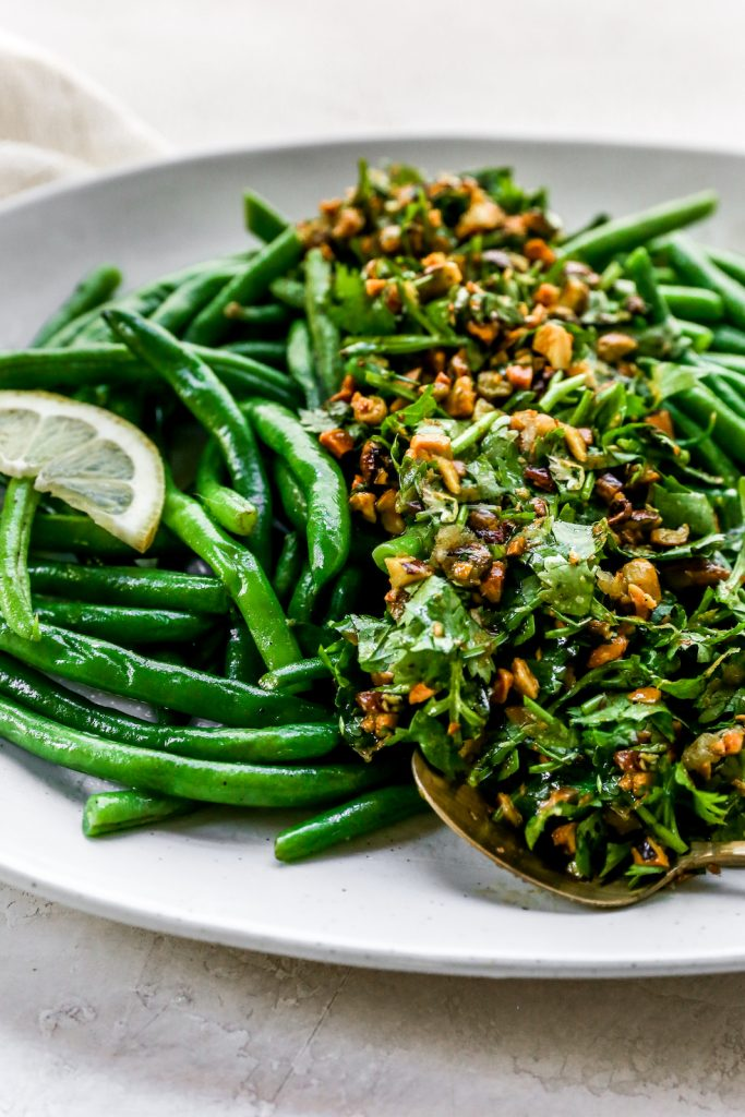 Buttery Green Beans with Pistachio-Lemon Gremolata