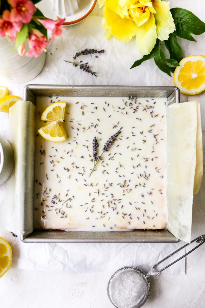 Lemon Lavender Cookie Bars