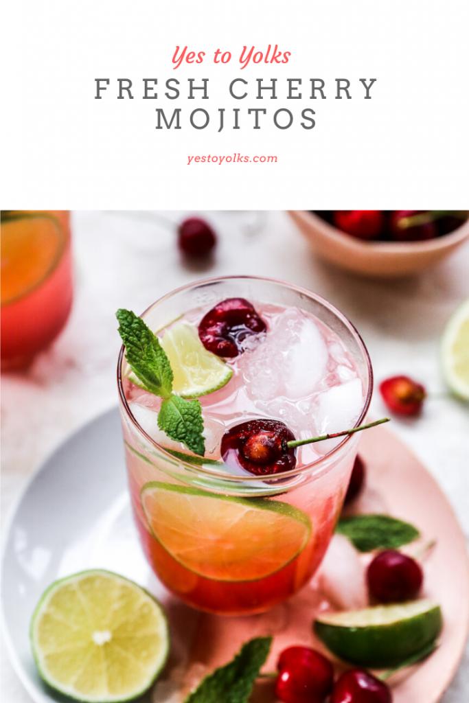 Fresh Cherry Mojitos