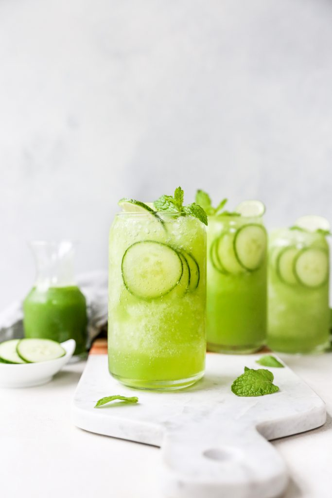 Minty Cucumber Gin Coolers