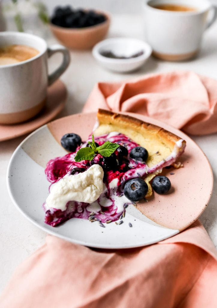 Blueberry Lavender Dutch Baby