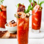 Seriously Spicy Bloody Marys with Spicy Candied Bacon