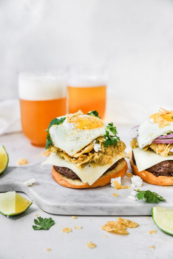 Chilaquiles Cheeseburgers